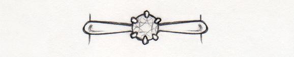 婚約指輪ストレートデザイン