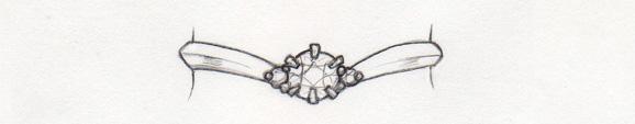 婚約指輪V字デザイン