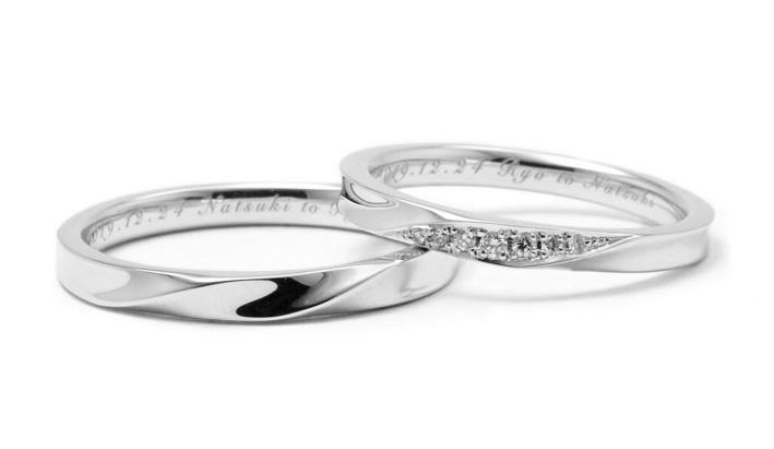 ひねりの結婚指輪